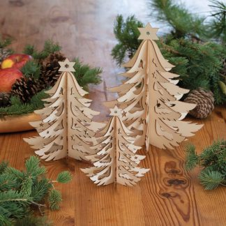 Laser-Cut Trees and Ornaments